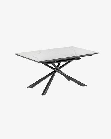 Table extensible Theone 160 (210) x 90 cm plateau grès cérame
