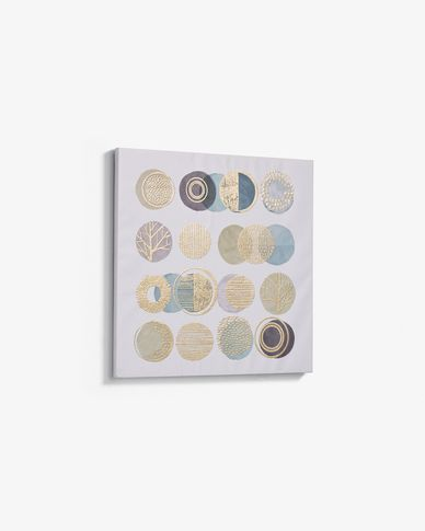 Lienzo Silva 60 x 60 cm círculos