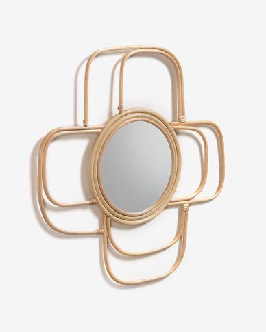 Espejo Maeve de ratán 62 x 62 cm