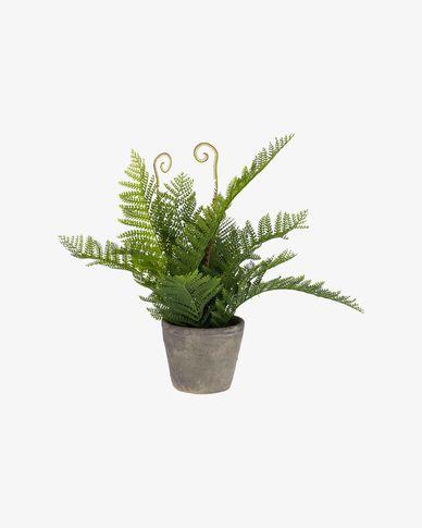 Planta artificial Filicopsida con maceta de cemento 35 cm