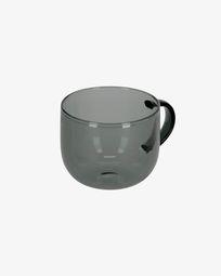 Tassa de cafè Alahi de vidre gris