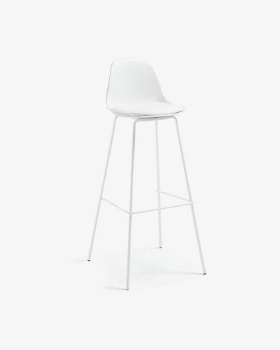 Banco alto Brighter branco altura 75 cm