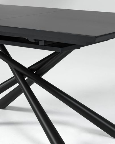Theone ausziehbarer Glas Tisch 160 (210) x 90 cm