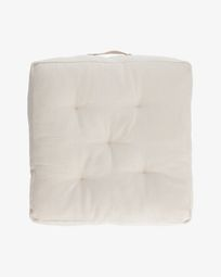 Sarit 100% cotton white floor cushion 60 x 60 cm