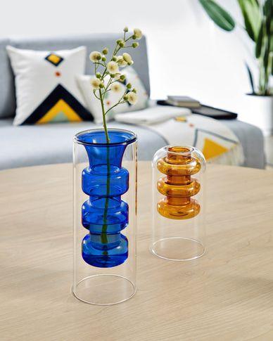 Charlize Vase blau