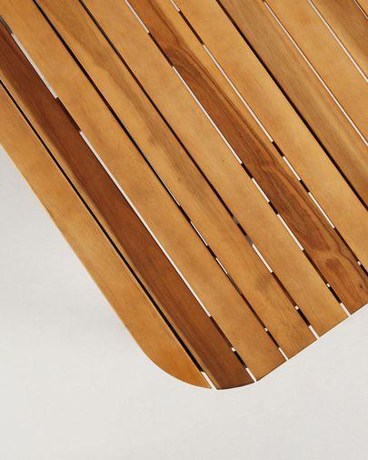 Mesa Soumaya 180 x 90 cm de madera maciza de acacia patas de acaero acabado negro