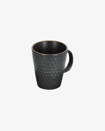 Manami ceramic mug in black