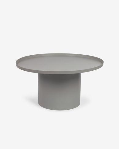 Mesa auxiliar redonda Fleksa de metal cinzento Ø 72 cm