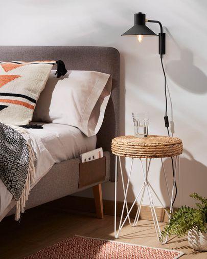 Small Aria wall lamp black