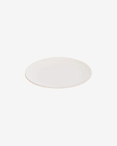 Taisia porcelain dessert plate in white