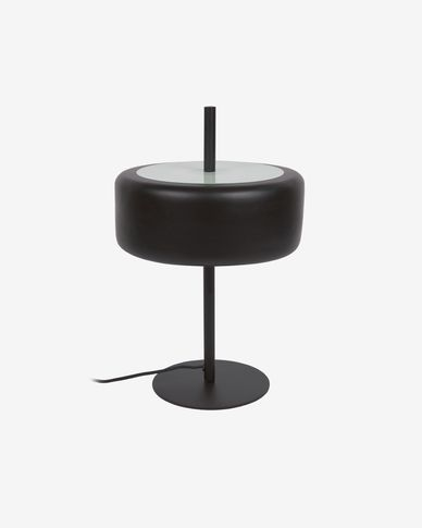 Francisca metal table lamp with black glass finish