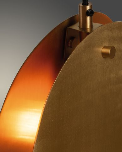 Lámpara de techo Monica de acero con acabado latón