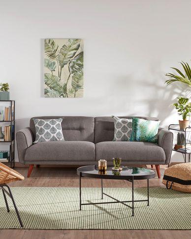 Sofa 3-osobowa Oksana w kolorze ciemnoszarym 215 cm