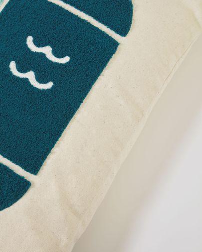 Funda cojín Samudra 100% algodón pez multicolor 30 x 50 cm