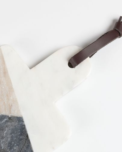 Taula de servir rectangular Bergman marbre multicolor