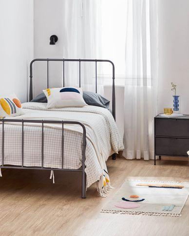 Naomy 90 x 190 cm graphite bed