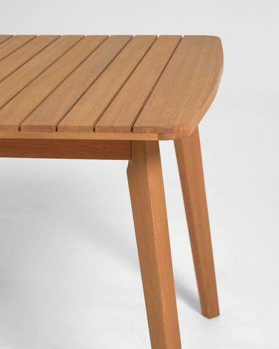 Mesa extensible de exterior Hanzel madera maciza eucalipto 183 (240) x 100 cm FSC 100%