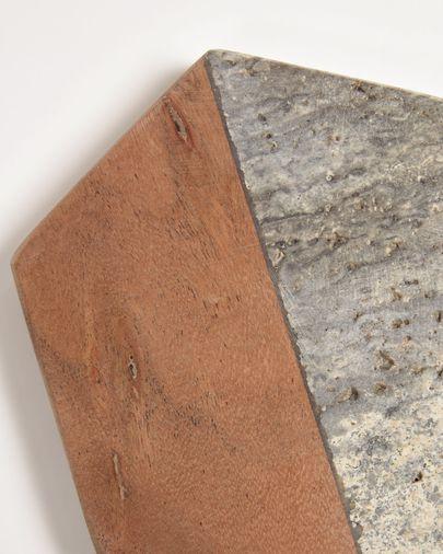 Set Sinai de 4 posavasos de madera y piedra
