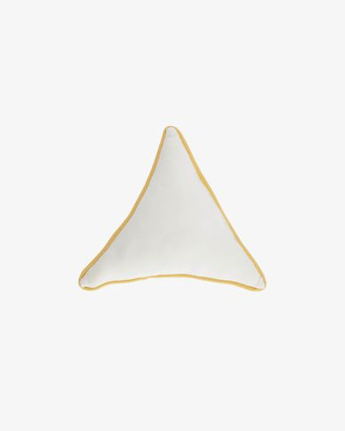 Fresia wit driehoekig kussen