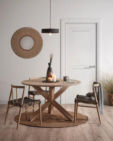 Lotus runder Tisch Ø 120 cm aus massivem Eichenholz