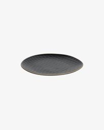 Manami ceramic dessert plate in black