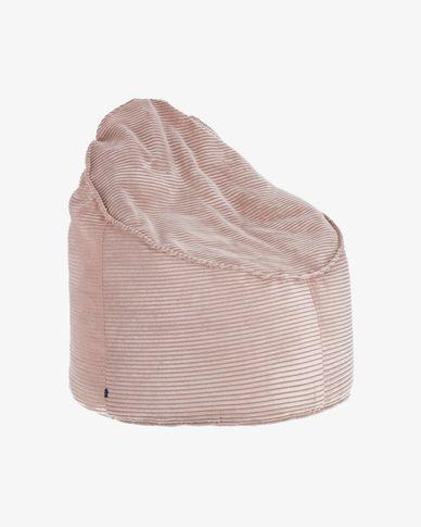 Poef Wilma Ø 80 cm roze corduroy