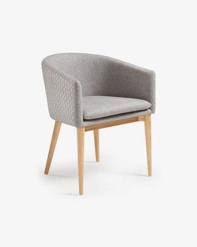 Light grey and natural Harlan chair