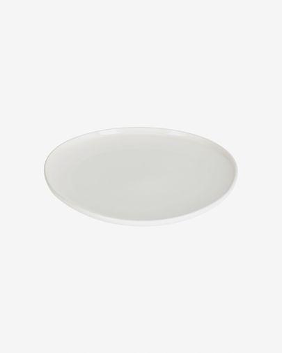 Assiette plate Pahi ronde porcelaine blanc