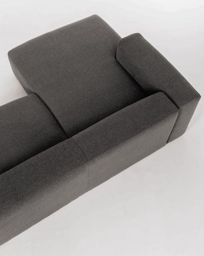 Blok 3-seater sofa with left-hand chaise longue in grey, 300 cm