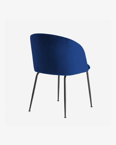 Stoel Laudelina fluweel blauw