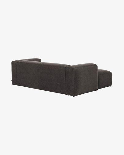 Sofá Blok 2 plazas chaise longue izquierdo gris 240 cm