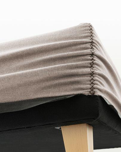 Bed base high Nikos 160 x 200 cm beige