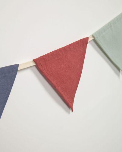 Guirnalda con banderines Celia 100% algodón orgánico (GOTS) multicolor