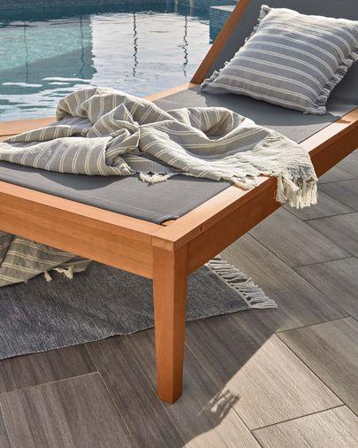 Caterin solid eucalyptus sun lounger in green FSC 100%
