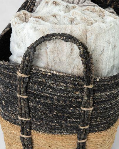 Set of 3 baskets Kysna dark grey and brown