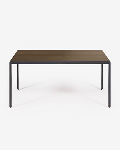 Uitschuifbare tafel Nadyria 160 (200) x 90 cm noten-hout