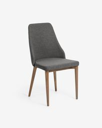 Rosie chair dark grey dark finish