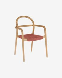 Sheryl chair made from solid eucalyptus and terracotta cord FSC 100%