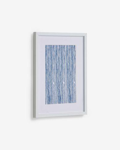 Quadre Kuma ratlles blau 30 x 40 cm