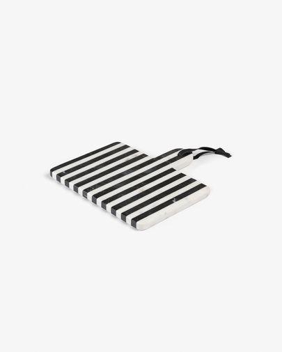 Planche à découper rectangulaire Bergman marbre noir blanc