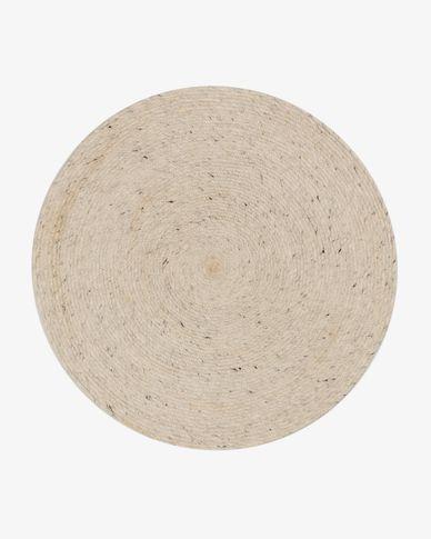 Alfombra redonda Takashi 100% lana gris Ø 200 cm