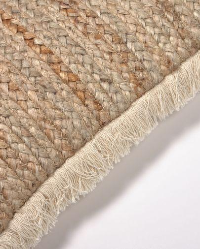 Housse de coussin Clidia jute et coton avec franges 30 x 50cm