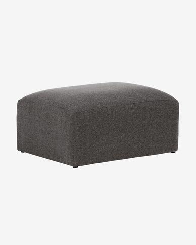 Repose-pieds Blok 90 x 70 cm gris