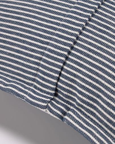 Aleria cotton cushion cover with white and blue stripes 45 x 45 cm