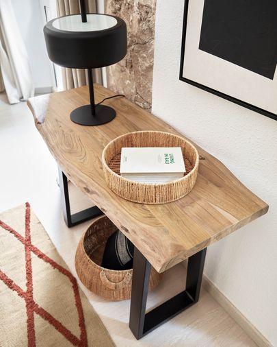 Consola Alaia de madera maciza de acacia con acabado natural 115 x 40 cm
