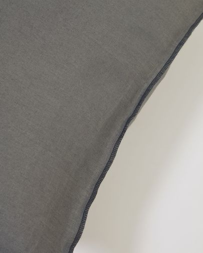 Funda cojín Elea 100% lino gris oscuro 45 x 45 cm