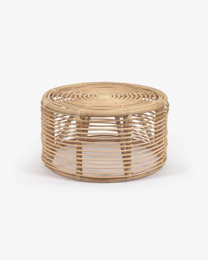 Round Kohana coffee table in rattan with natural finish Ø 65 cm