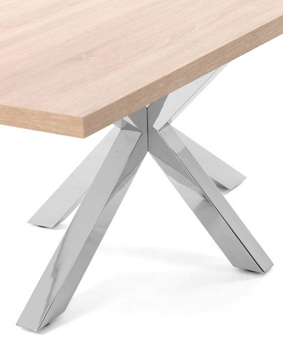 Argo table 200 cm natural melamine stainless steel legs
