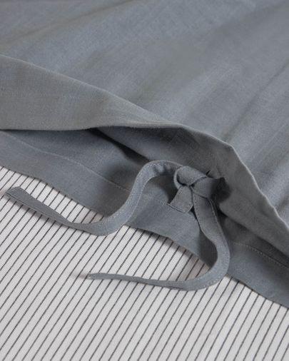 Linge de lit Mariel drap-housse,housse couette,taie oreiller en coton bio (GOTS)145x190cm