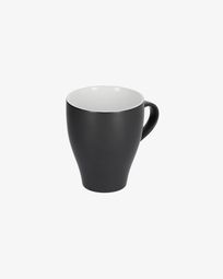 Sadashi porcelain mug in black